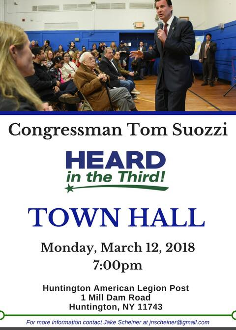 Suozzi Town Hall at American Legion, Huntington